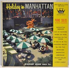 """Holiday in Manhattan"" Piano Solos LP Waldorf Music Hall Records #MHK 33-1215 VG"