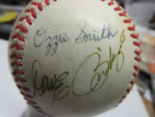 old team signed baseball Ozzie Smith and others. Rawlings official ball