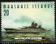 "USS NEW MEXICO (BB-40) ""The Queen"" Battleship Warship Stamp (1997)"