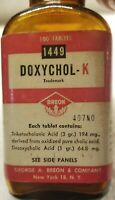 George A. Breon & Company New York Doxychol-K Nice Color Original Label And Lid