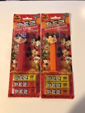 2 PEZ DISPENSERs ~ Vintage ~ MICKEY MOUSE & Minnie ~ GOOD/EVIL ~ NEW / SEALED