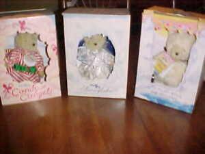 LOT OF (3) HOLIDAY BOXED MUFFY VANDERBEAR CANDY C' ANGEL, POLAR BEAR & SNOWFLAKE