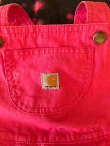 toddler girls Carhartt overalls , 24months , pink, one piece