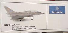 Herpa 1:200  -  Luftwaffe  Eurofighter EF-2000 Typhoon Steinhoff  -     551649
