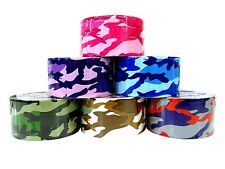 "NEW ASSORTMENT CAMOUFLAGE MULTI PURPOSE DECORATION DUCT TAPE ROLL 1.88""X5yrd"