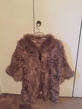 GORGEOUS (NEW) Lamb/Faux Fur 3/4 Sleeves Coat/Jacket. Size M. (Retails $480)