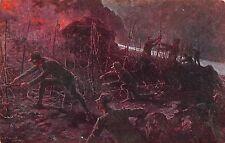 6570) WW1 1915 TAGLIO NOTTURNO DI RETICOLATI AL VERSO COGNAC FIDES.