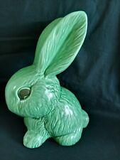 More details for vintage sylvac no. 1028 large 25.5cm snub nose rabbit doorstop - green   [40]