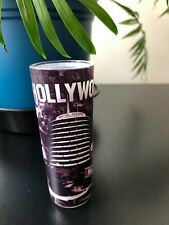 NEW 4 INCH BLACK AND WHITE HOLLYWOOD LANDMARKS SHOT GLASS