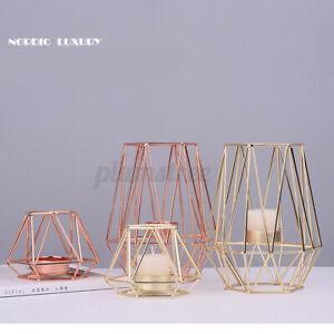 Geometric Candlestick Metal Iron Candle Holder Wedding Home Decor Nor