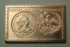 1795 United States U.S. Liberty Draped Bust Dollar Numistamp Medal 1976 Reed