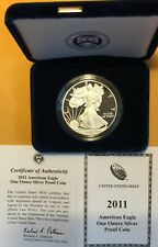 2011-W 1 OZ  Proof Silver American Coin with Box and Certificate
