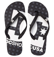 Dc shoes infradito gomma uomo Spray black sandals mare piscina