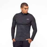 NWT Under Armour Mens Vanish Seamless ½ Zip Pullover Top Shirt Black XL $60