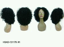 Kinky Curl Black Short Synthetic wig, color 1b #