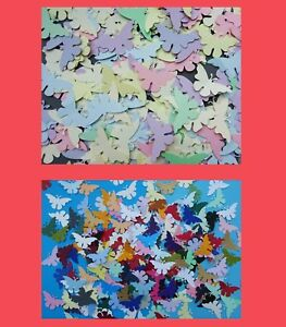 Pack of 100++ Decorative butterflies.Mixed colours or Pastel. Same shape packs.