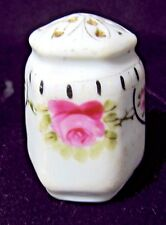 Vintage Victorian Hand Painted Pink Rose Flower and Gold Detail Hat Pin Holder