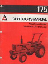 APRIL 1980 ALLIS-CHALMERS GASOLINE & DIESEL TRACTOR 175 OPERATOR'S MANUAL  (379)
