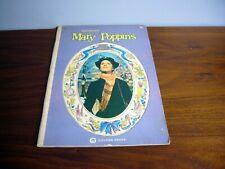 Walt Disney's Mary Poppins Golden Press Movie Story Book 1964 large paperback