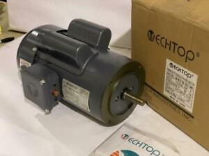 TECHTOP  1HP AC MOTOR 1730 RPM TEFC 115/208/230 VAC  FRAME: 56C  1 PHASE MOTOR
