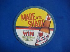 Beer Coaster: Molson Canadian Lager ~ Made In The Shade ~ Win Hot Summer Prizes