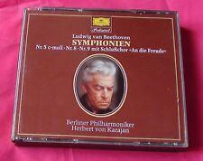 Karajan Beethoven Symphony 5, 8 & 9 DGG 427857-2 W Germany Noifpi PDO BOX2CD