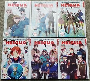 Hetalia Axis Powers Manga Vol. 1-6 Complete TokyoPop