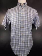 Nice Men's Medium Wrangler Multi-Color Plaid Design Short Sleeve Button Shirt