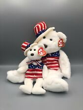 Ty Beanie Buddy and Babies Bundle Sam Patriotic Pair Plush Stuffed Animal
