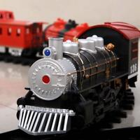 Electric Train Set Kids Educational Toys Battery Operated Railway Car Xmas Gift
