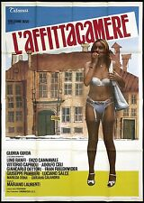 L'AFFITTACAMERE MANIFESTO CINEMA GLORIA GUIDA SEXY ITALIAN 1976 MOVIE POSTER 4F