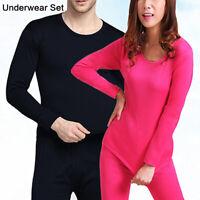 2pcs Unisex Men Tops&Pants Warm Underwear Set Cotton Thermal Underwear Winter UK