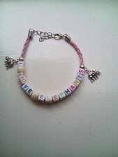 """i love elephants"" bracelet"