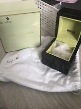 Vintage Rare Penhaligon's Black Trinket Box, Lime Green Suede Interior RRP £95