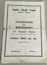 More details for sunderland v birmingham city english school trophy seventh round march 29th 1952