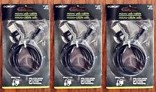 """*BEST DEAL 3ct - 39"""" HIGH SPEED DATA CHARGING Cables 2.1A MALE USB to MICRO USB"""