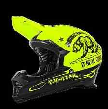 CASCO MTB ENDURO O'NEAL Fury RL Helmet CALIFORNIA black/neon yellow giallo/nero