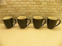 COLORWAVE GRAPHITE 4 Coffee Mugs Noritake Stoneware 8034 Indonesia VERY NICE