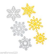 3Pcs Snowflake Cutting Dies Stencil Metal DIY Scrapbooking Christmas Cards Decor