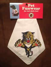 -New- Florida Panthers Official NHL Dog / Pet Bandanna Funwear