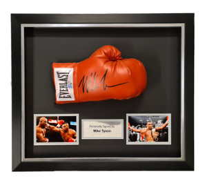 Mike Tyson Hand Signed RED EVERLAST Boxing Glove in Deluxe Classic Dome Frame