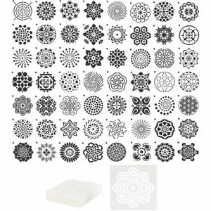 Mandala Dot Painting Templates, Stencils for DIY Rock Art Projects (56 Pack)