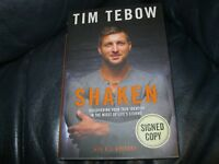 Tim Tebow Signed Autographed Book Shaken Beckett Pre Certified