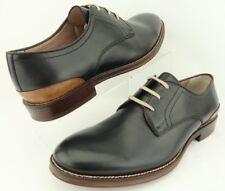 JOHNSTON & MURPHY Grayson Plain Toe Black Leather Lace-up Oxford Derby Mens 8.5M