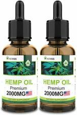 (2 Pack) Hemp Oil 4000mg for Pain Relief, Stress & Anxiety Relief, Improve Sleep