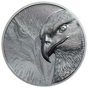 Mongolei 1.000 Togrog 2020 - Majestic Eagle - Ultra High Relief - 2 Oz Silber BP