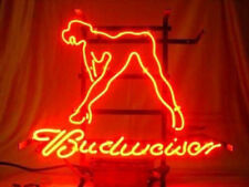 "New Budweiser Girl Live Nudes Neon Light Sign 17""x14"" Beer Man Cave Real Glass"