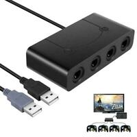 Gamecube Controller Adapter for Wii U PC USB and Switch 4 Ports & No Need Driver