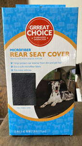 Microfiber Rear Car Seat Cover Pet Protection  NEW IN BOX Gray
