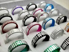 25pcs Men Women fashion mix metal cut alloy rings job lots wholesale Jewelry